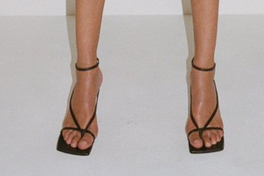 Bottega Veneta's square-toe shoes have become a cult favourite in the fashion set.