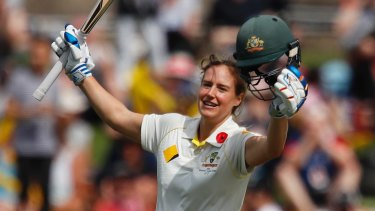 Ellyse Perry notched a Test double-century against England in the 2017 Women's Ashes.