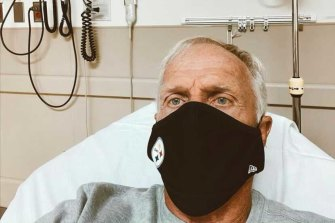 Greg Norman in hospital with COVID-19 on Christmas Day.