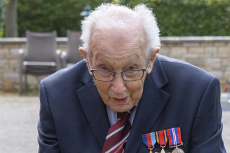 Captain Tom Moore, a 99-year-old war veteran.