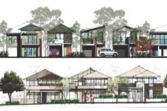 An illustration of residential street frontages in the draft control plan.