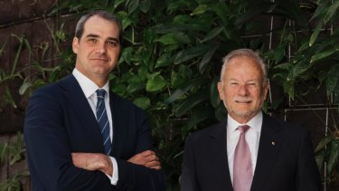 Long-Term Asset Partners managing director Chris Craddock, with the fund's chairman Tony Shepherd, have lobbed a bid for GrainCorp.