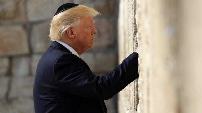 President Donald Trump visits the Western Wall in Jerusalem in 2017.