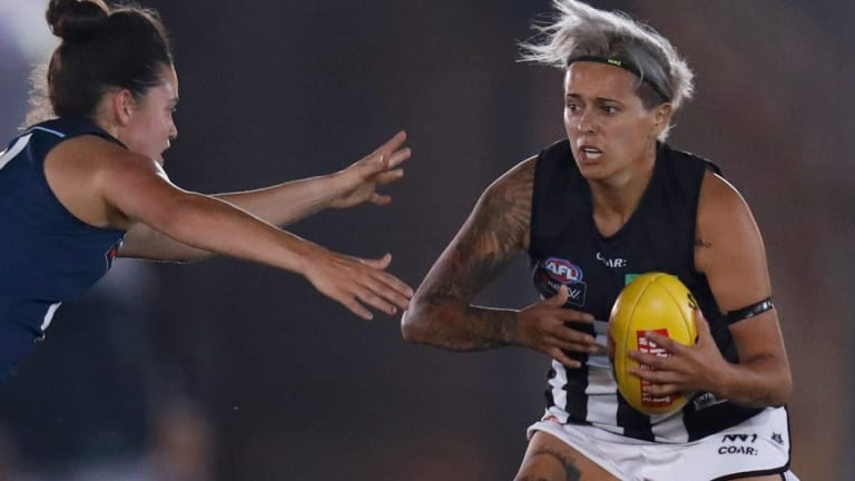 Done deal: Former Collingwood star Moana Hope is joining the AFLW's new team, North Melbourne.