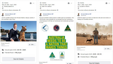 """Deputy Labor leader Richard Marles has spent more than $5000 on ads asking people to """"like"""" his Facebook page."""