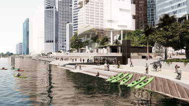 An artists' impression ofthe council's City Reach Waterfront Master Plan.