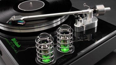 Vacuum tubes are hard to miss with their green lighting.
