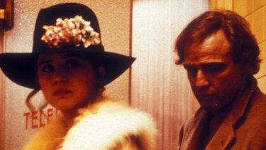 Marlon Brando and Maria Schneider in Last Tango in Paris.