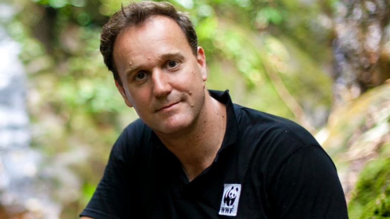 Dermot O'Gorman, pictured in Borneo, started his career as a park ranger.