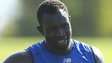 Majak Daw will line up for Melbourne in the VFL on Monday.