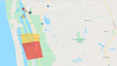 The bushfire was reported at 11.35am in southern parts of Lake Clifton, about 110km south of Perth.