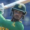 Quinton de Kock withdrew from South Africa's T20 World Cup game against the West Indies.