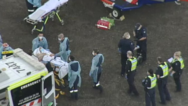 A man from the maximum security Barwon Prison is fighting for life after being stabbed multiple times.