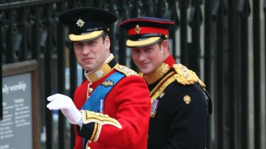 Prince Harry was his brother's best man and Prince William returned the favour.