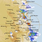 Wet weather moves across south-east Queensland on Monday evening.