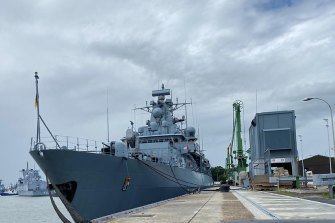 The German frigate Bayern will visit Australian shores in October.