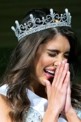 Taylah Cannon is crowned Miss World Australia.