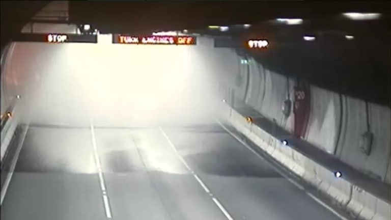 The Burnley Tunnel remained closed on Friday morning.
