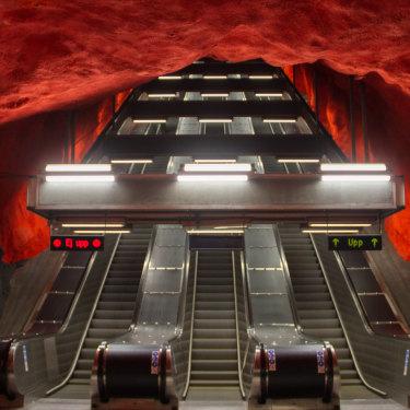 Solna station in Stockholm.