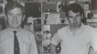 Michael Kirby and his partner Johan van Vloten in 1969, the year they met.