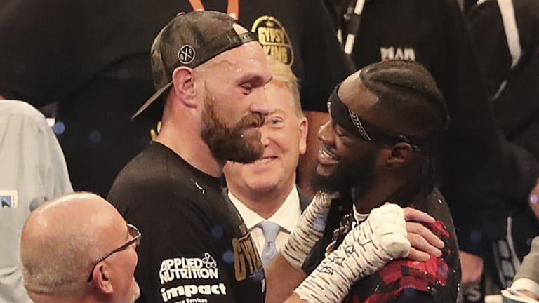 Challenge accepted: Fury and WBC heavyweight champion Deontay Wilder face off.