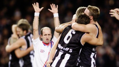 From the Archives, 2002: Pies stake their claim with a rousing win