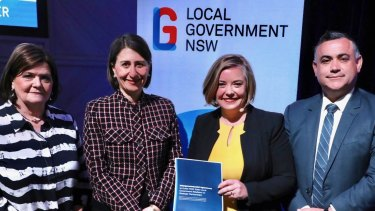 NSW Local Government Minister Shelley Hancock, left, says councils will have more flexibility to apply the rate peg under reforms proposed by the state government.