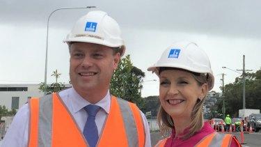 Brisbane lord mayor Adrian Schrinner and Infrastructure chair Amanda Cooper open Kulpurum Street in East Brisbane.