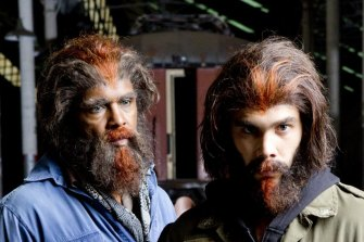 Tony Briggs and Tysan Towney as a couple of 'hairies' in Cleverman.
