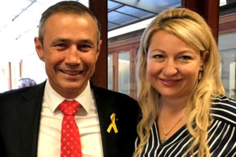 Sanja Spasojevic and her former employer Roger Cook.