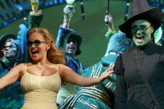 Kristin Chenoweth in the original Broadway cast of Wicked.