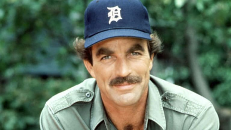 """Tom Selleck as good old Magnum, PI. At the """"bushy"""" end."""
