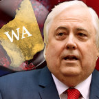 """Clive Palmer – who has a mining company based in WA – says the border is """"destroying the economy""""."""