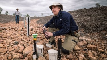 Greening Australia ecologist Lynise Wearne at the Strathalbyn site outside Townsville.