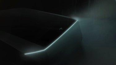 Elon Musk released a teaser pick of the 'Cybertruck' in March.