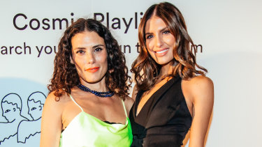 Chani Nicholas and Erin Holland at Spotify's Cosmic Playlists launch.