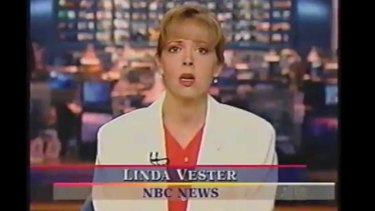 Linda Vester reading the news for NBC. Image courtesy of NBC.