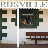 Locals have been seeking some relief from the heat at the famous Birdsville Hotel.