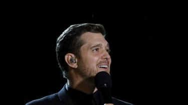 Michael Buble will perform in Brisbane again on Wednesday night.