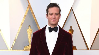 Armie Hammer, pictured here at the 2018 Oscars, is the subject of some wild claims on social media.