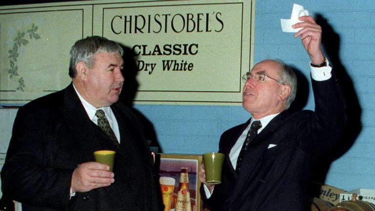 Jim Murphy and Prime Minister John Howard in 2000.