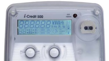 An electricity 'smart meter' records usage and sends it to retailers, without the need for meter readers to enter a property.