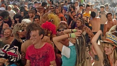 Punters at Rainbow Serpent Festival last year.