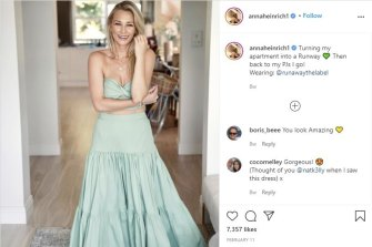 Anna Heinrich's Instagram post was the subject of a complaint to the advertising watchdog.