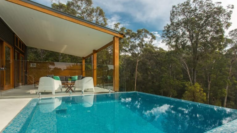 Indigo Retreat WestLodge is a new luxury space for couples with a private track tothe secluded Murrah Beach.