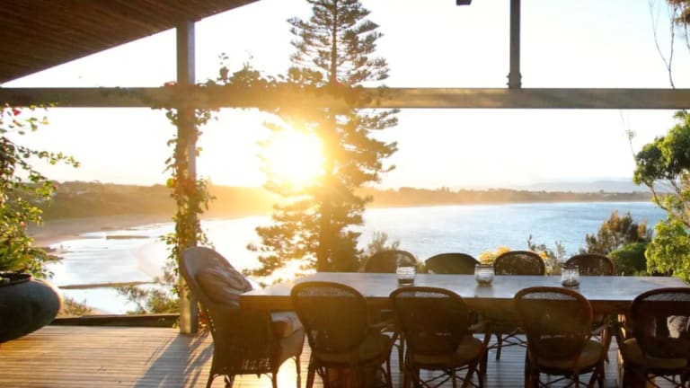 The Culburra House sits right on the beachfront, accommodating two to three families.