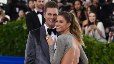Bundchen with her husband Tom Brady at the Met Gala in 2017.