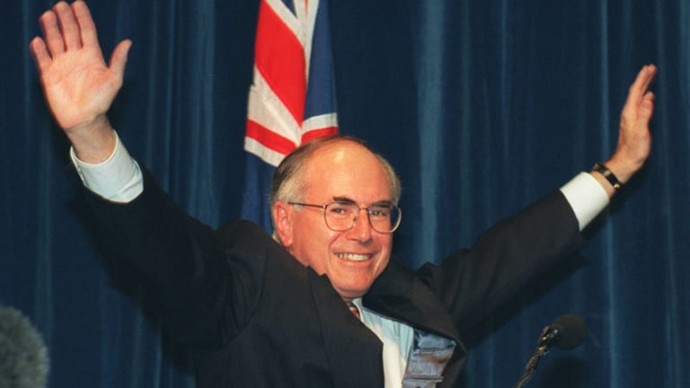 "John Howard won the 1996 election on slogans such as ""Enough is enough"" and ""For all of us"""