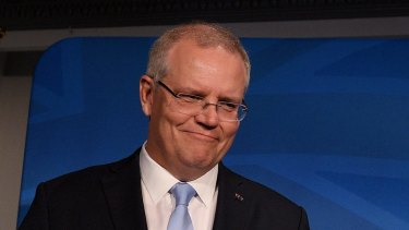 Prime Minister Scott Morrison prepares to address the media after the Wentworth byelection loss.