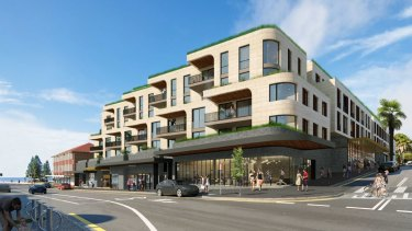 An artist's impression of part of the proposed $112 million redevelopment of the Coogee Bay Hotel site.